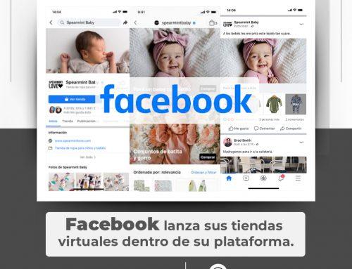 Facebook lanza sus tiendas virtuales dentro de su plataforma.